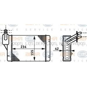 Radiador de calefacción BEHR HELLA SERVICE: 8FH351311011