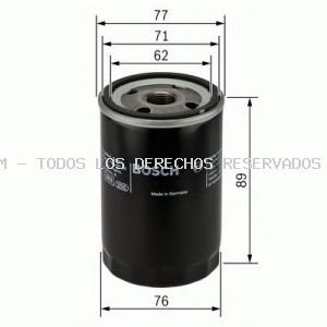 Filtro de aceite BOSCH: 0986452044