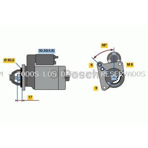 Motor de arranque BOSCH: 0001138047