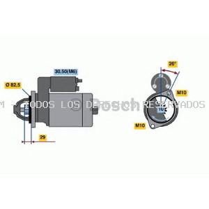 Motor de arranque BOSCH: 0001223005