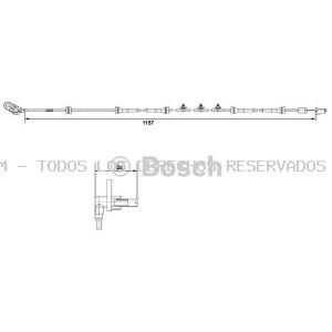 Correa trapecial poli V BOSCH: 1987946215