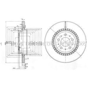 Disco de freno DELPHI: BG3782C