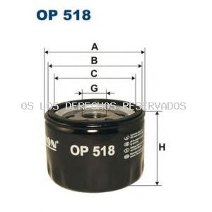 Filtro de aceite FILTRON: OP518