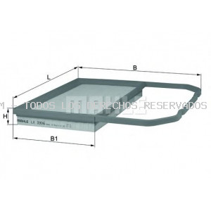 Filtro de aire MAHLE ORIGINAL: LX3306