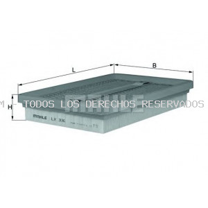 Filtro de aire MAHLE ORIGINAL: LX336