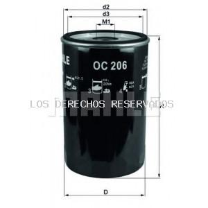 Filtro de aceite MAHLE ORIGINAL: OC206