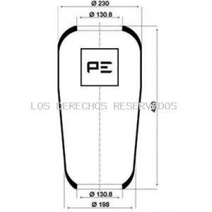 Fuelle, suspensión neumática PE Automotive: 08406270A