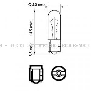 Lámpara incandescente, panel de instrumentos| Lámpara| Lámpara, iluminación de guantera PHILIPS: 12505CP