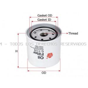 Filtro de aceite SAKURA Automotive: C1115