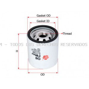Filtro de aceite SAKURA Automotive: C1125