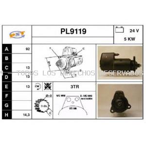 Motor de arranque SNRA: PL9119