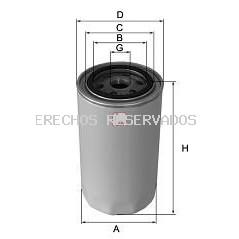 Filtro hidráulico, dirección SOFIMA: S8041RH