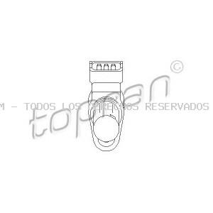 Sensor de revoluciones, control del motor TOPRAN: 407869