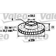 Disco de freno VALEO: 186102
