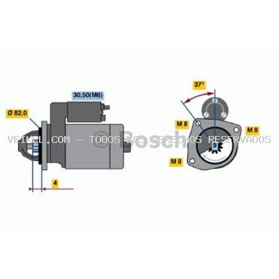 Motor de arranque BOSCH: 0001109300