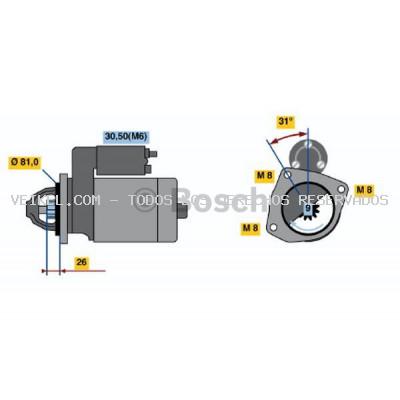 Motor de arranque BOSCH: 0001223013