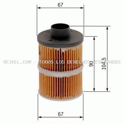 Filtro combustible BOSCH: 1457070001