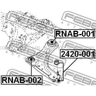 Suspensión, Brazo oscilante FEBEST: RNAB001