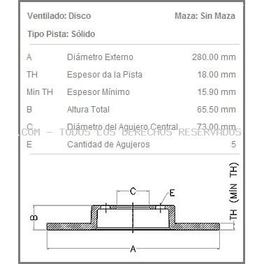 Disco de freno FREMAX: BD4680
