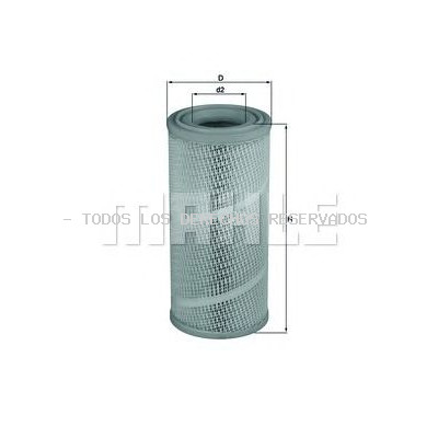 Filtro de aire MAHLE ORIGINAL: LX1142