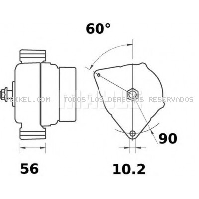 Alternador MAHLE ORIGINAL MG52 | Veikel on