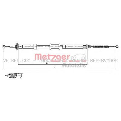 Cable de accionamiento, freno de estacionamiento METZGER: 120701