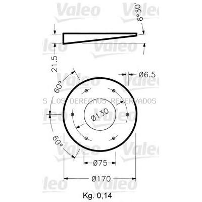 Soporte, luz omnidireccional VALEO: 040024