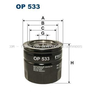 Filtro de aceite FILTRON: OP533