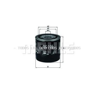 Filtro de aceite KNECHT: OC136
