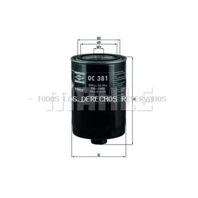 Filtro de aceite| Filtro hidráulico, transmisión automática MAHLE ORIGINAL: OC381