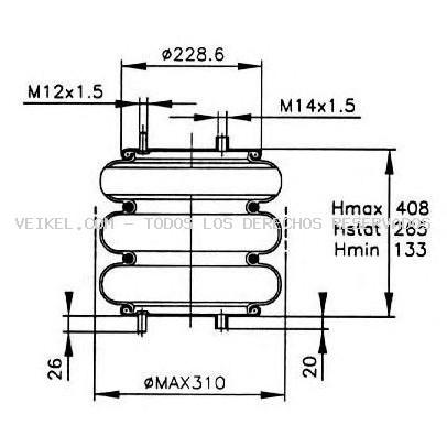 Fuelle, suspensión neumática PE Automotive: 08416031A