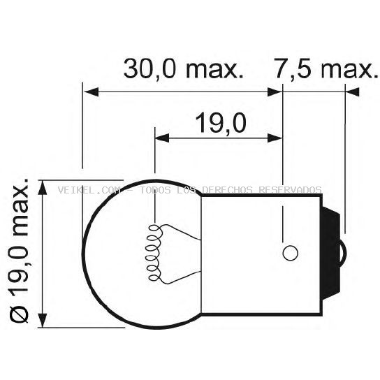 Lámpara, luz intermitente| Lámpara , piloto de matrícula| Lámpara incandescente, luz trasera| Lámpara, luz interior| Lámpara, luz del maletero| Lámpara, luz estacionamiento/posición| Lámpara de incandescencia, luz de situación/gálibo| Lámpara, luz intermi VALEO: 032219