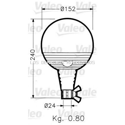 Luz de identificación omnidireccional VALEO: 040019