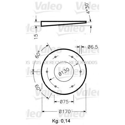 Soporte, luz omnidireccional VALEO: 040025